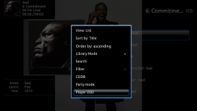 xTV-SAF has OSD in Context Menu