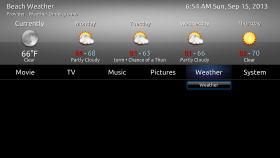 xTV-SAF  Weather on the Home Screen