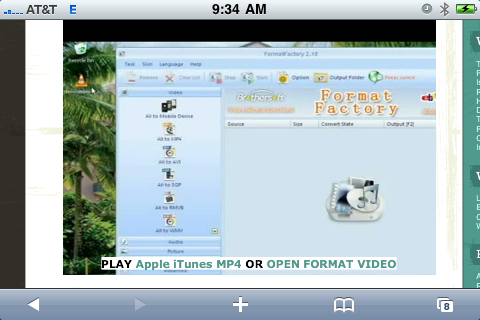 this is how the HTML5 video links look over a fallback image